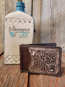 The Carleton Bifold Money Clip Wallet M&F Western Products