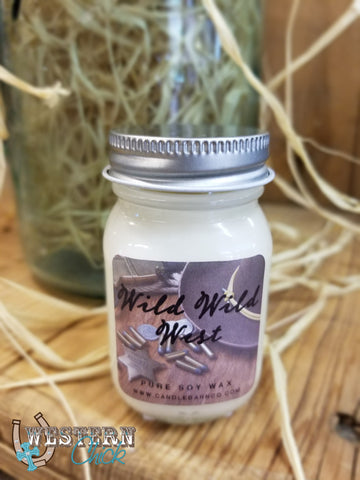 Wild Wild West Mason Jar Candle 1.5 oz
