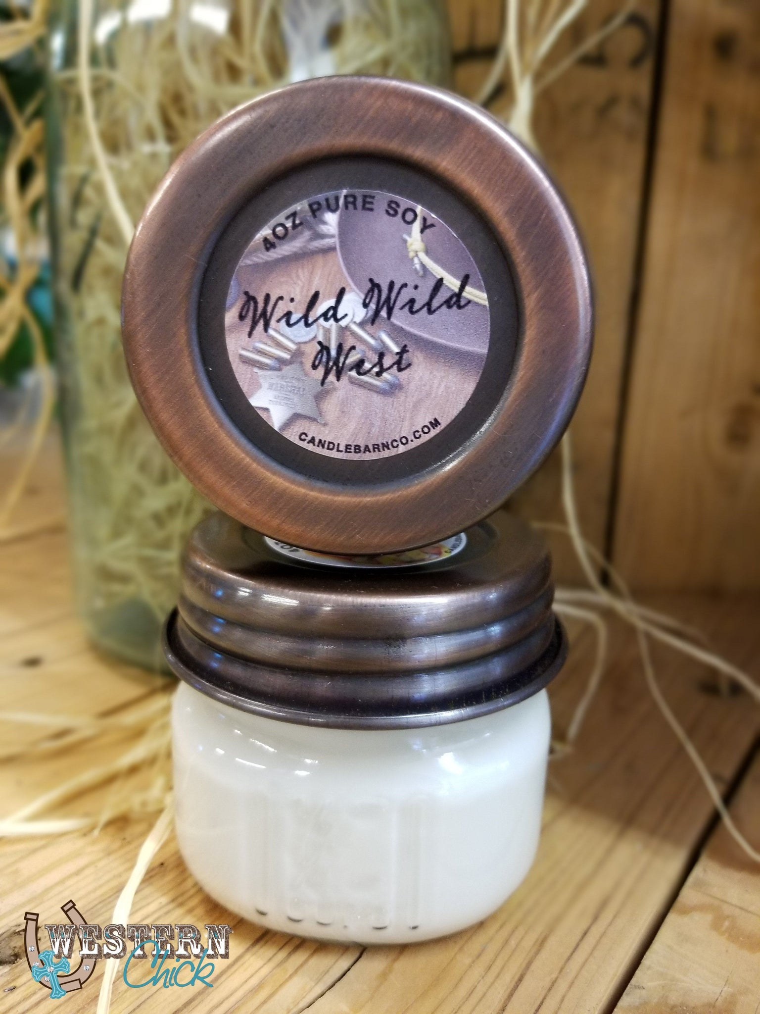 Wild Wild West Mason Jar Candle 4 oz Candles & Melts Candle Baarn Co.