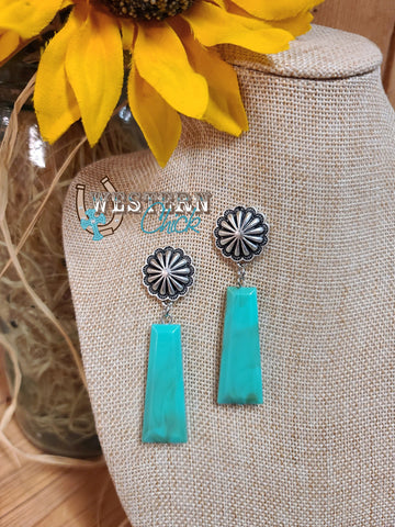 Concho & Turquoise Earrings Western Chick Boutique
