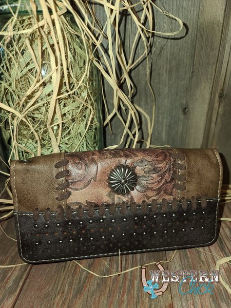 Dancer's Western Wallet Wristlet - Brown Wallet Montana West