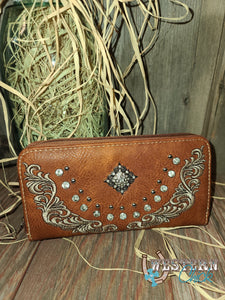Remington's Western Wallet Wristlet - Brown Wallet Montana West