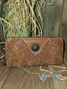 Tilley's Western Wallet Wristlet - Brown Wallet Montana West