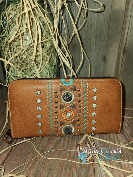 Tandy's Western Wallet Wristlet - Brown Wallet Montana West