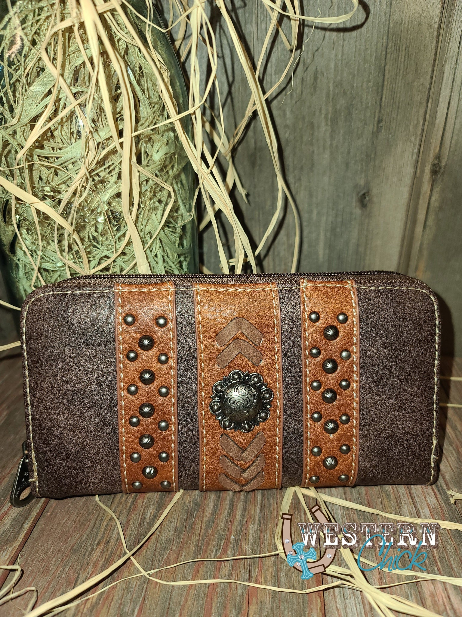 Salty's Western Wallet Wristlet - Coffee Wallet Montana West