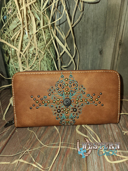 Mesa's Western Wallet Wristlet - Brown Wallet Montana West