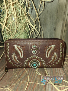 Paprika's Western Wallet Wristlet - Coffee Wallet Montana West