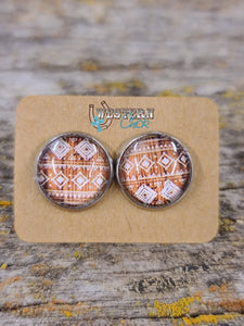 Earrings - Brown Aztec Jewelry Southern Charm Trading Co