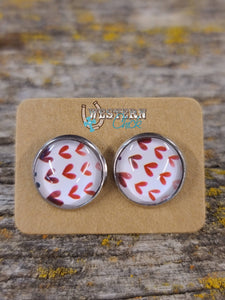 Earrings - Mini Hearts Jewelry Southern Charm Trading Co