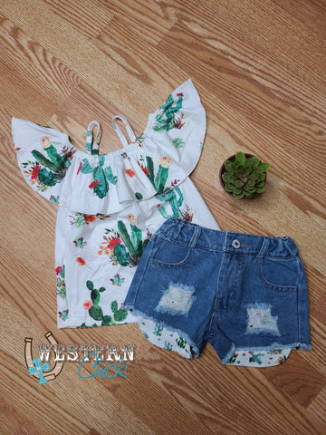 It's Wild Cactus Tunic Short Set
