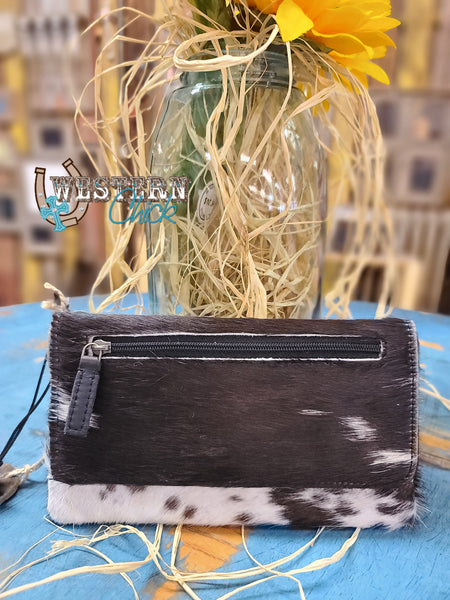 Cookies & Cream Leather And Hairon Wallet