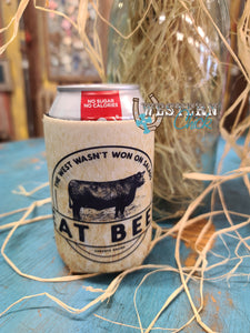 Eat Beef Can Cooler