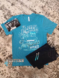 Girl's Best Friend Turquoise Tee