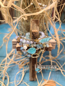 Midnight Lights Bracelet Set - Mint
