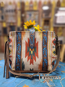 Morning Glow Hand-Tooled Bag