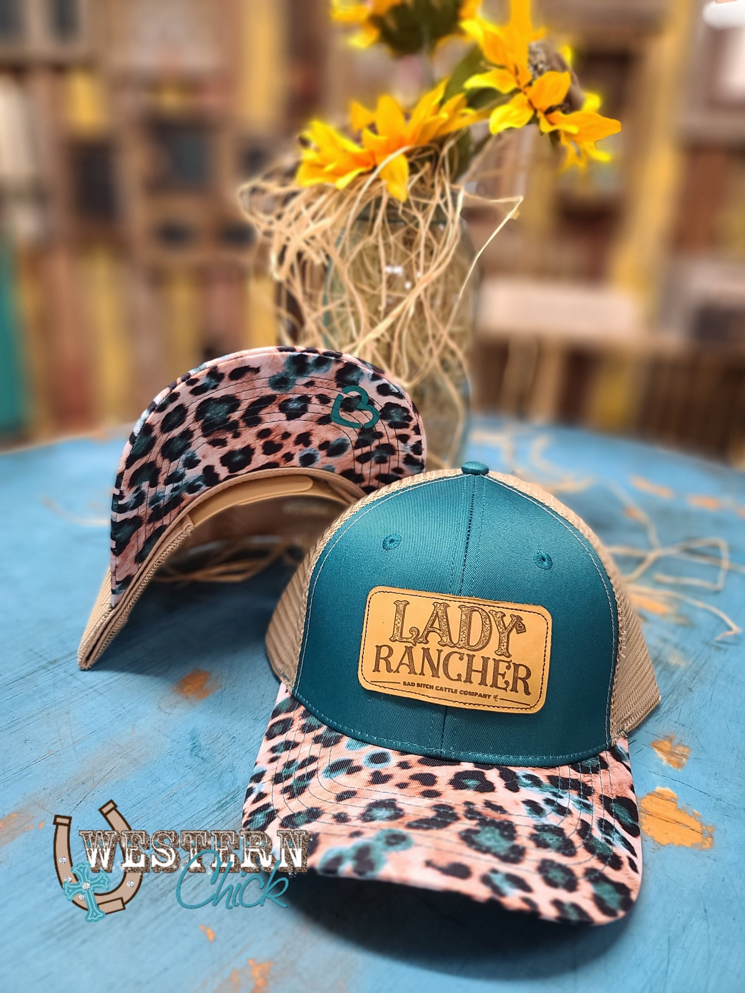 Lady Rancher Snap Back Cap - Turquoise
