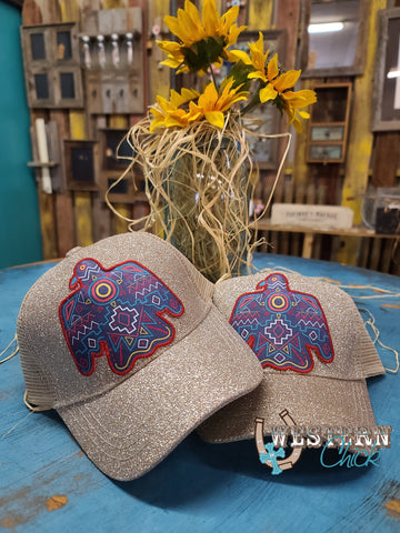 Youth Aztec Thunderbird Cap - Glitter