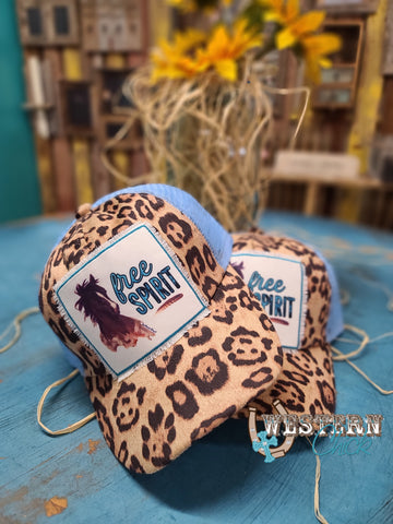 Youth Free Spirit Cap - Leopard & Lt. Blue