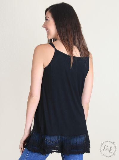 Black Lace Hem Camisole Tank Top Southern Grace