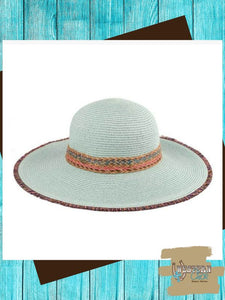 Braided Straw Brim Hat - Mint Hat Cheveux Corp.