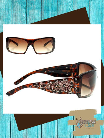Western Scroll Design Sunglasses Sunglasses Montana West