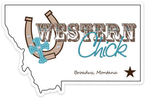 Western Chick Bumper Sticker Souvenir Western Chick Boutique