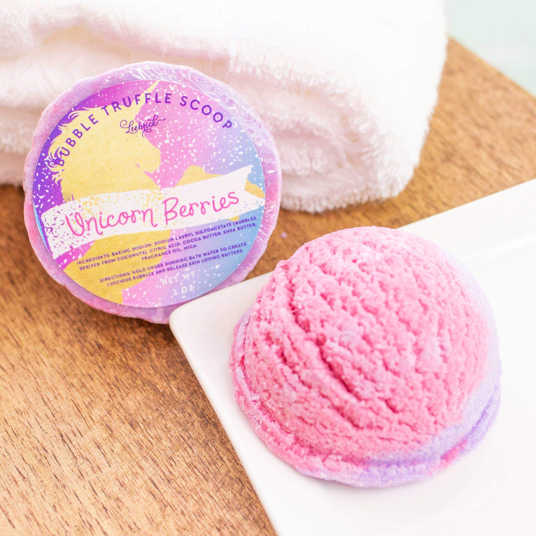 Unicorn Berries Bubble Truffle Scoop - Bath Melt Leebrick