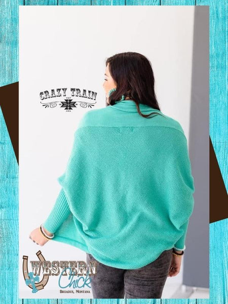 The Sheridan Cardigan - Turquoise Outerwear Crazy Train