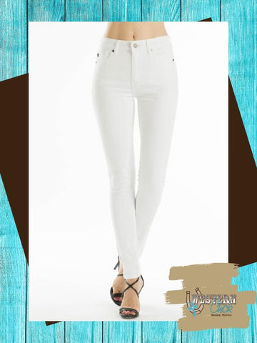 Ankle Skinny White Denim - KanCan Denim KanCan