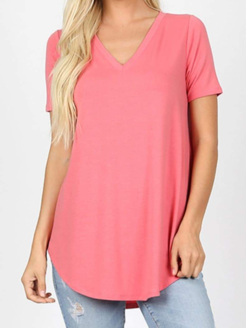 The Perfect Desert Rose V-Neck Tee
