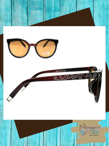 Western Cat Eye Sunglasses - Coffee Sunglasses Montana West