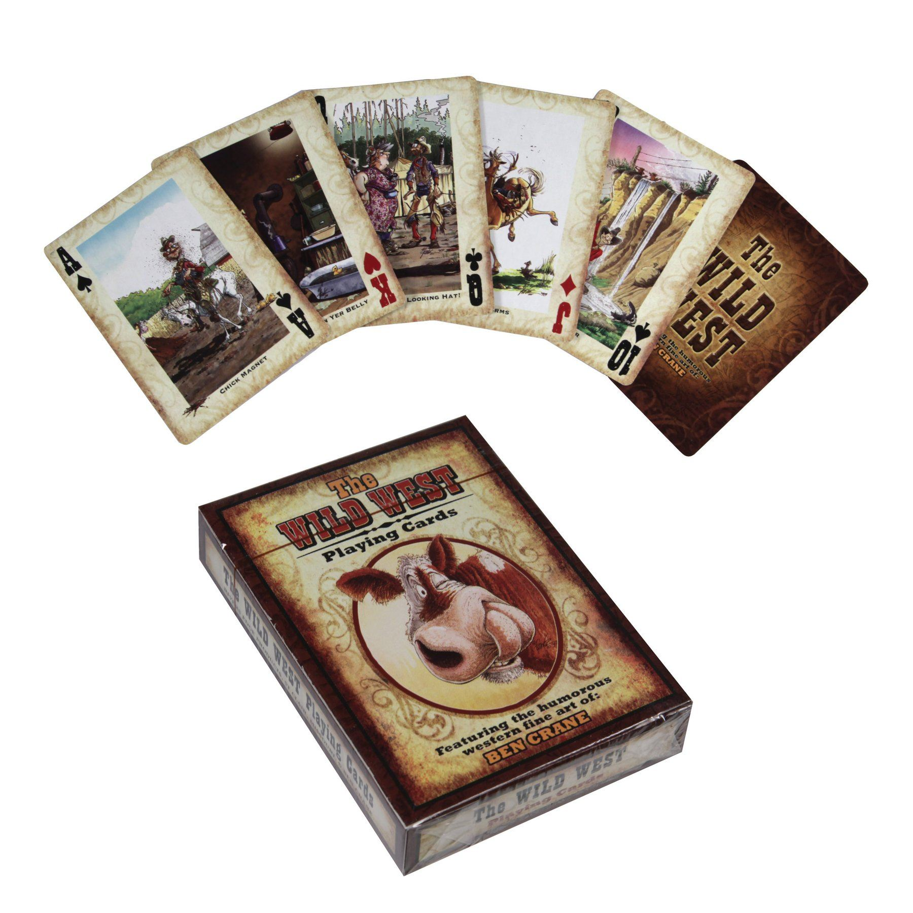 The Wild West Playing Cards Gift Rivers Edge