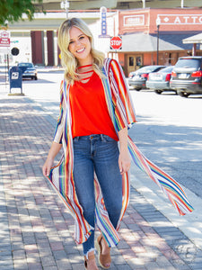 Heart & Soul Duster with Serape and Leopard