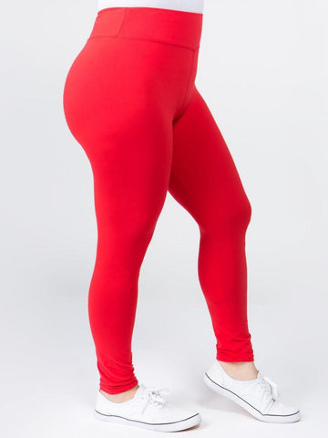 Maraschino Cherry Buttery Soft Leggings - Plus