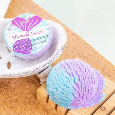 Mermaid Dreams Bubble Truffle Scoop - Bath Melt Spa Products Leebrick
