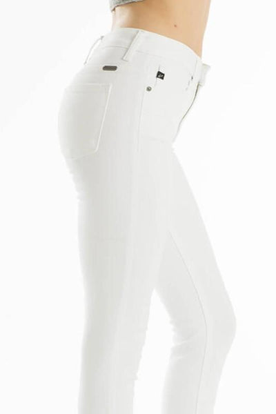 Ankle Skinny White Denim - KanCan
