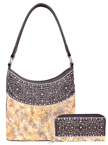 Bailey's Embossed Hobo Bag