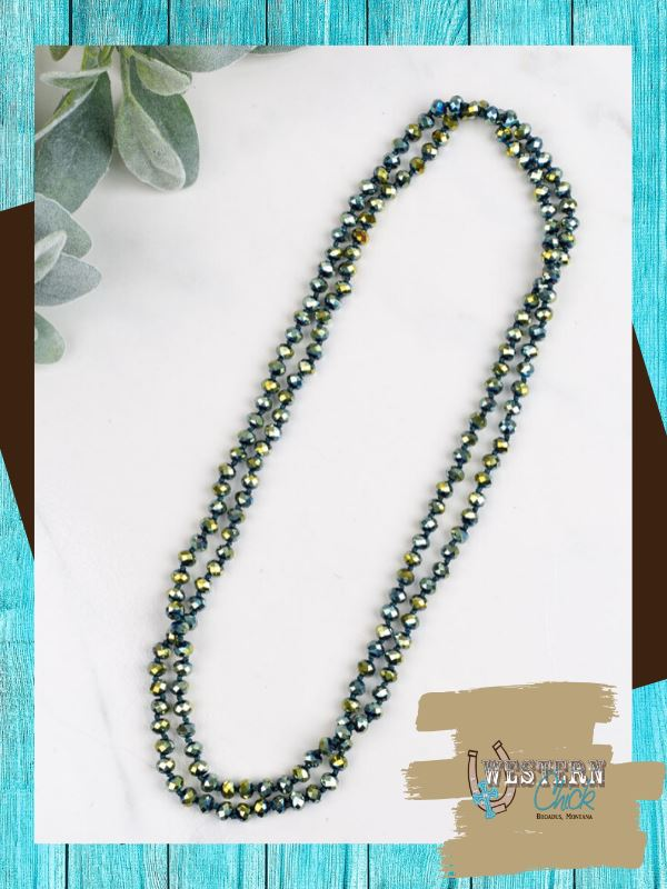 "The Essential 60"" Double Wrap Beaded Necklace - Mermaid Jewelry Southern Grace"