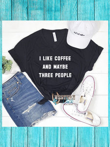 I Like Coffee V-Neck Tee Graphic Tee Mugsby