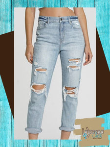 Callie's High Rise Boyfriend Jean - Light Denim Denim Eunina