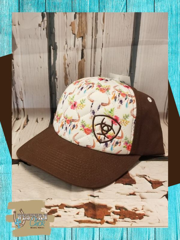 Ariat Floral Skull Cap Hat M&F Western Products