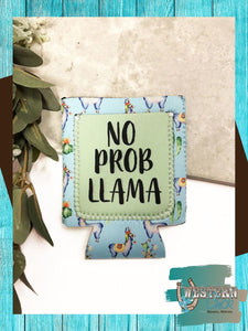 No Prob Llama Can Koozie Gift Southern Grace