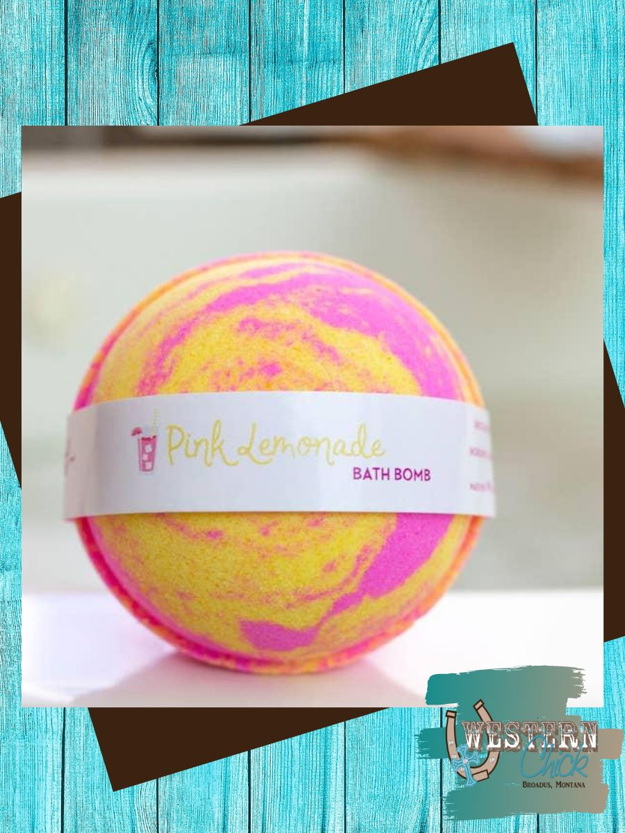Pink Lemonade Bath Bomb 5 oz Spa Products Leebrick