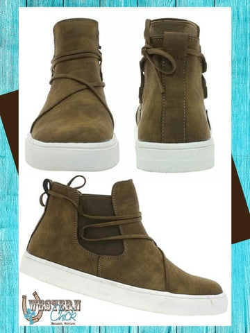 Loden High-Top Sneaker