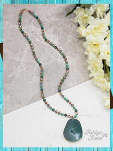 Emerald Green Beaded Necklace Jewelry Southern Grace