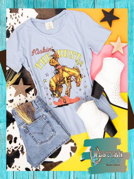 Kickin' The Dust Up Tee Graphic Tee Southern Grace