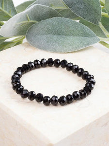 Essential Stretch Bracelet - Black Jewelry Southern Grace