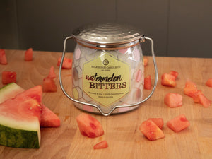 Watermelon Bitters Wrapped Butter Jar Candle 16 oz Candles & Melts Milkhouse Candles