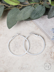Dooley's Silver Hoop Earrings