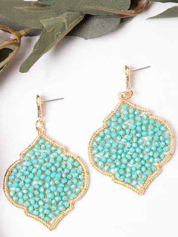 Maya's Baroque Drop Earrings